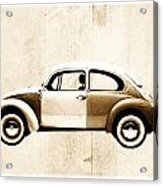 Beetle Car Acrylic Print by David Ridley