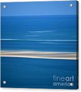 Blurred Sea Acrylic Print by Bernard Jaubert