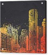 Boston City Skyline Acrylic Print by Aged Pixel