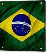 Brazilian Flag Acrylic Print by Les Cunliffe