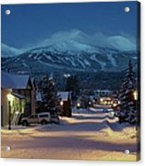 Breckenridge Colorado Morning Acrylic Print by Michael J Bauer