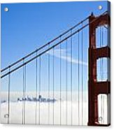 Bridge To The City In The Clouds Acrylic Print by Darren Patterson