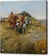 Buffalo Hunt Acrylic Print by Charles Marion Russell