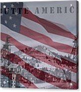Butte America Acrylic Print by Kevin Bone