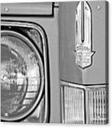 Cadillac Headlight Emblem Acrylic Print by Jill Reger