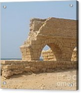 Caesarea Israel Ancient Roman City Port Acrylic Print by Robert Birkenes