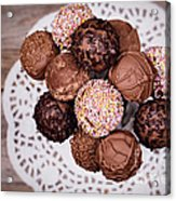 Cake Pops Acrylic Print by Jane Rix
