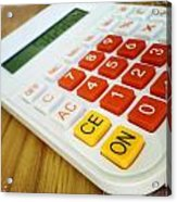 Calculator Acrylic Print by Les Cunliffe
