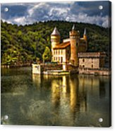 Chateau De La Roche Acrylic Print by Debra and Dave Vanderlaan