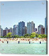 Chicago North Avenue Beach Acrylic Print by Patrick  Warneka