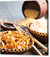 Chinese Food Acrylic Print by Mythja  Photography