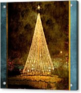 Christmas Tree In The City Acrylic Print by Cindy Singleton