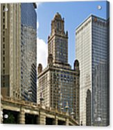 Classic Chicago -  The Jewelers Building Acrylic Print by Christine Till
