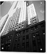 Close In Shot Of The Empire State Building New York City Acrylic Print by Joe Fox