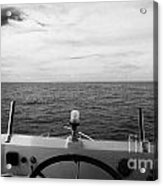Controls On The Flybridge Deck Of A Charter Fishing Boat In The Gulf Of Mexico Out Of Key West Flori Acrylic Print by Joe Fox