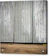 Corrugated Metal Acrylic Print by Tom Gowanlock