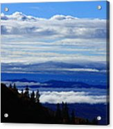Courthouse Valley Sea Of Clouds Acrylic Print by Michael Weeks