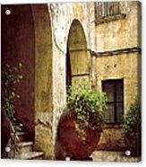 Courtyard In Capri Acrylic Print by Julie Palencia