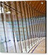 Curved Glass Wall Pattern Acrylic Print by ELITE IMAGE photography By Chad McDermott