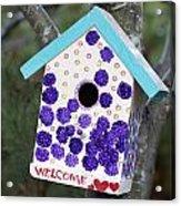 Cute Little Birdhouse Acrylic Print by Carol Leigh