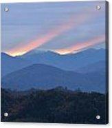 Dawn Of Gatlinburg Acrylic Print by Nian Chen