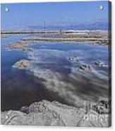 Dead Sea Landscape Acrylic Print by Dan Yeger