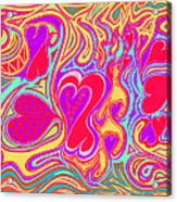 Double Broken Heart Acrylic Print by Kenneth James