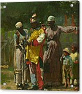 Dressing For The Carnival Acrylic Print by Winslow Homer