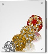 Enterovirus Capsid Proteins Structure Acrylic Print by Science Photo Library