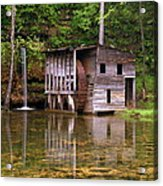 Falling Spring Mill  Acrylic Print by Marty Koch