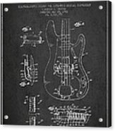 Fender Guitar Patent Drawing From 1961 Acrylic Print by Aged Pixel