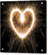 Fiery Heart Acrylic Print by Tim Gainey