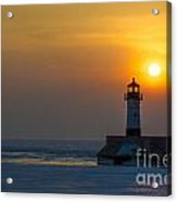 First Sunrise Acrylic Print by Ronny Purba