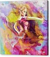 Flamenco Dancer Acrylic Print by Catf