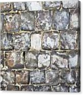Flint Stone Wall Acrylic Print by Tom Gowanlock