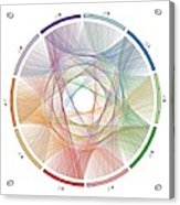 Flow Of Life Flow Of Pi Acrylic Print by Cristian Vasile