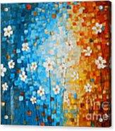 Flowers After Rain Acrylic Print by Denisa Laura Doltu