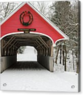 Flume Covered Bridge - White Mountains New Hampshire Usa Acrylic Print by Erin Paul Donovan