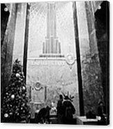 Foyer Of The Empire State Building New York City Usa Acrylic Print by Joe Fox