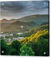 Gatlinburg Tennessee Great Smoky Mountain Sunrise Acrylic Print by Mark VanDyke