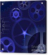 Gears Acrylic Print by Michal Boubin