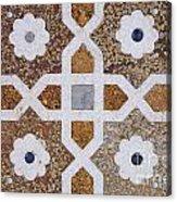 Geometric Designs On The Baby Taj Agra Acrylic Print by Robert Preston