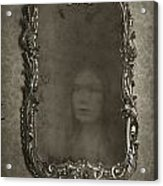 Ghost Of A Woman Reflected In A Mirror Acrylic Print by Lee Avison