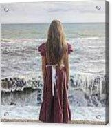 Girl On Beach Acrylic Print by Joana Kruse