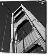 Golen Gate Tower Acrylic Print by Darren Patterson