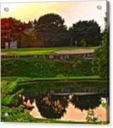 Golf Course Beauty Acrylic Print by Frozen in Time Fine Art Photography