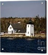 Grindel Point Lighthouse  Acrylic Print by Skip Willits