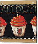 Halloween Cupcakes Acrylic Print by Catherine Holman