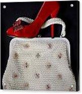 Handbag With Stiletto Acrylic Print by Joana Kruse