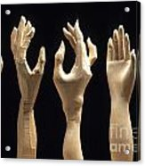 Hands Of Wood Puppets Acrylic Print by Bernard Jaubert